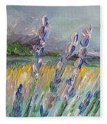Impressionism Fantasy Field Fleece Blanket