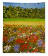 Impressionism Flowers- Pretty Posies Fleece Blanket