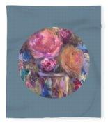 Impressionist Floral Art Fleece Blanket