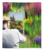 Impressionist Painter Fleece Blanket