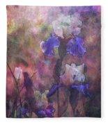 Impressionist Purple And White Irises 6647 Idp_2 Fleece Blanket
