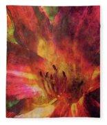 Impressionist Vibrant Daylily 1208 Idp_2 Fleece Blanket