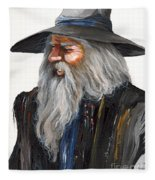 Impressionist Wizard Fleece Blanket