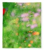 Impressionistic Blossom 5 At Britain Park Fleece Blanket