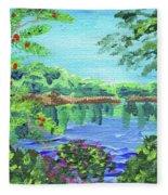Impressionistic Landscape Xx Fleece Blanket