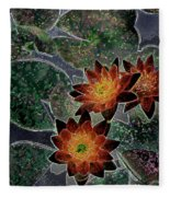 Impressionistic Lilies Fleece Blanket