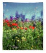 Impressionistic Springtime Fleece Blanket