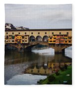 Impressions Of Florence - Ponte Vecchio Autumn Fleece Blanket