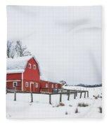 In A Rural Atmosphere Fleece Blanket