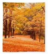 In Autumn Fleece Blanket