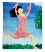In Between Heaven And Earth Fleece Blanket