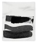 In Between Stage- Abstract Art By Linda Woods Fleece Blanket