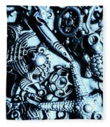 In Blue Nautilus  Fleece Blanket