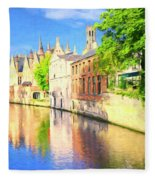 In Bruges Fleece Blanket