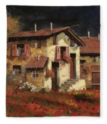 In Campagna La Sera Fleece Blanket