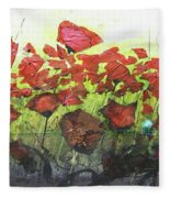Fields Of Poppies Fleece Blanket