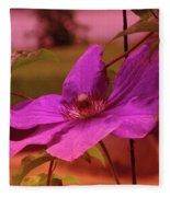 In Full Blue Blossom  Fleece Blanket