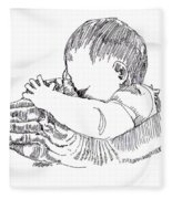 In His Hands Fleece Blanket