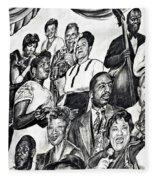 In Praise Of Jazz IIi Fleece Blanket