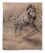 In Pursuit Fleece Blanket by Alan M Hunt