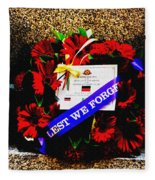 In Remembrance 5th Battalion Fleece Blanket