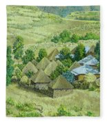 In Selale, Ethiopia Fleece Blanket