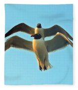 In Tandem At Sunset Fleece Blanket