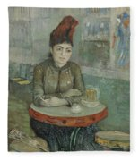 In The Cafe  Agostina Segatori In Le Tambourin Paris January  March 1887 Vincent Van Gogh 1853  Fleece Blanket