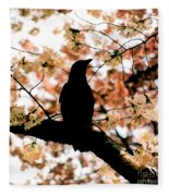 In The Cherry Tree Fleece Blanket