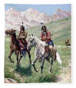 In The Cheyenne Country Fleece Blanket