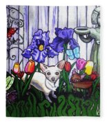 In The Chihuahua Garden Of Good And Evil Fleece Blanket