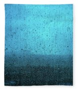 In The Dark Blue Rain Fleece Blanket