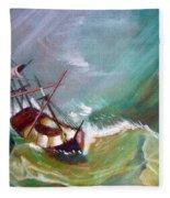 In The Eye Of The Storm Fleece Blanket