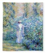 In The Flower Garden 1900 Fleece Blanket