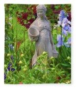 In The Flower Garden Fleece Blanket
