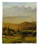In The Foothills Of The Rockies Fleece Blanket