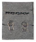 In The Footsteps Of Rocky Fleece Blanket