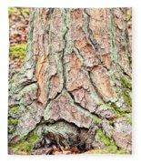 In The Forest Art Series - Tree Bark Patterns 1  Fleece Blanket
