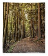 In The Forest Cathedral  Fleece Blanket
