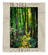 In The Forest With Words Fleece Blanket