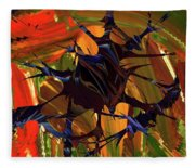 In The Forward Mind Abstract Fleece Blanket