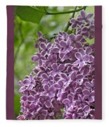 In The Garden. Lilac Fleece Blanket