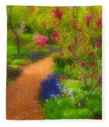 In The Gardens Fleece Blanket