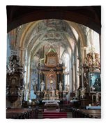 In The Gothic-baroque Church Fleece Blanket