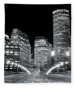 In The Heart Of A Black And White Town Fleece Blanket
