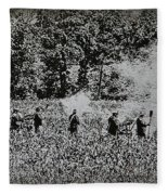 In The Heat Of Battle - Gettysburg Pa Fleece Blanket