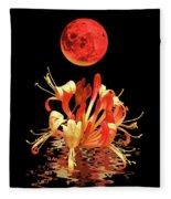 In The Heat Of The Night 2 Honeysuckle Red Moon Fleece Blanket