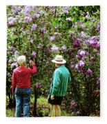 In The Lilac Garden Fleece Blanket