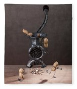 In The Meat Grinder 01 Fleece Blanket