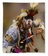 Pow Wow In The Moment Fleece Blanket